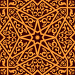 Arabian seamless pattern with a central star