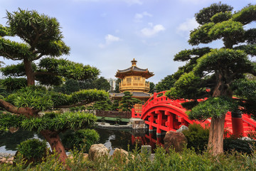 Chinese style garden in Hong Kong