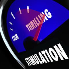 Stimulation Gauge Increasing Level Sexual Excitement Arousal