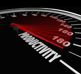 Productivity Measurement Speedometer High Output Level Efficienc
