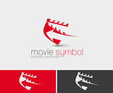 Symbol of Movie Maker, isolated vector design