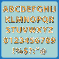 Retro Text style alphabet collection set