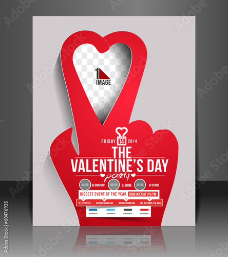 Valentine's Day Flyer & Poster Cover Template
