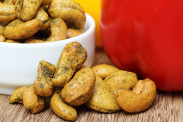 Cashew nuts with capsicum