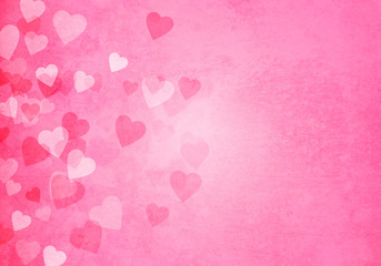 Valentine's day pink hearts background