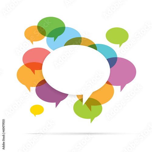 Colorful Speech Bubble Copyspace