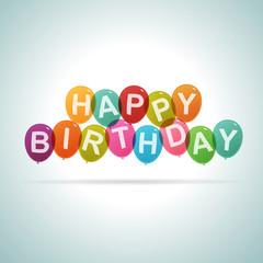 Happy Birthday Text Balloons