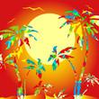 Постер, плакат: пальма