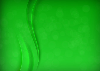 Green transparent banner with smooth wave