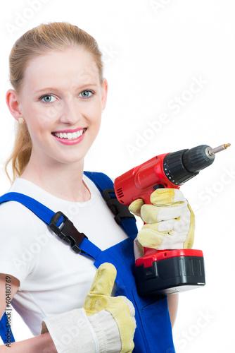 junge elektrikerin