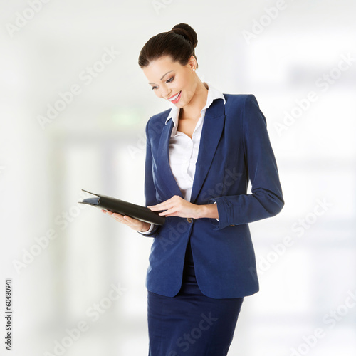 Attractive happy businesswoman