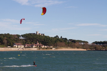 kitesurf in Santander Bay, Spain