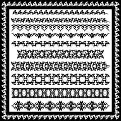 Векторный набор, черный