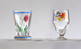 liqueur glass hand painted - 60481734