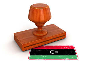 Rubber Stamp Libya flag (clipping path included)