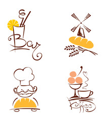 Collection illustration -- cafes and bakeries