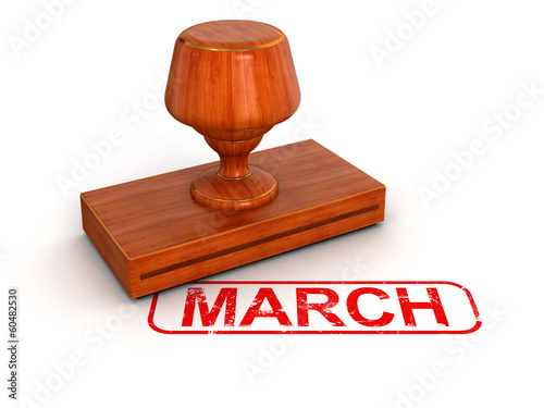 Rubber Stamp March (clipping path included)