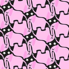 seamless elephant pattern