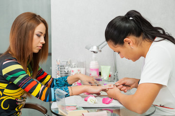 Spa salon. Manicure.