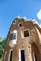 building in Park Guell. Barcelona. Spain