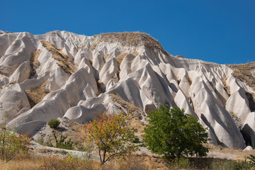 Unusual crags of Cappadocia