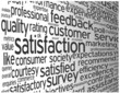 """SATISFACTION"" Tag Cloud Globe (customer service quality survey)"