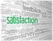 """SATISFACTION"" Tag Cloud Globe (survey customer service quality)"