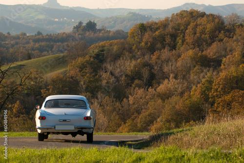 Old car in italian hills - 60484946