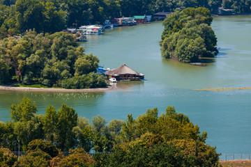 Houseboats on Ada Ciganlija