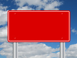 TRAFFIC SIGN TEMPLATE (notice board signpost road exit red)