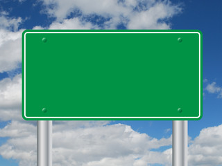 ROAD SIGN TEMPLATE (notice board signpost traffic blank)