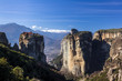 Meteora mountains and monasteries, Greece