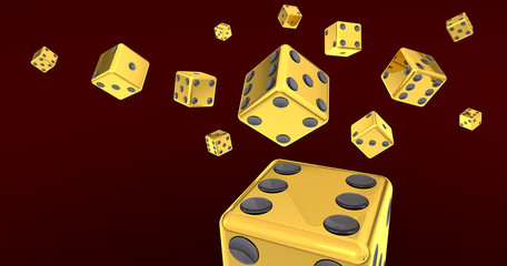 Flying Gold Dice Collection