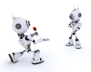 Robot with Rose
