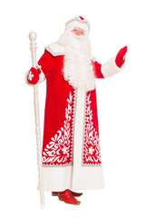 Santa Claus with a staff.