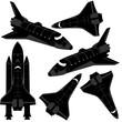 Space shuttle silhouette - 60487991