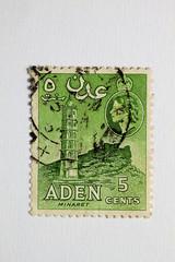 Alte Briefmarke_Aden