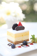 mango mousse cheese cake