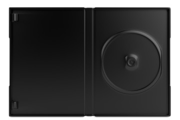 realistic 3d render of DVD case