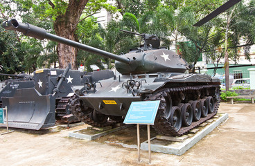 M41 USA tank. War Remnants Museum, Ho Chi Minh