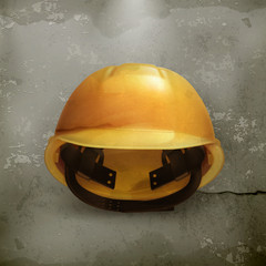 Hard hat, old style vector