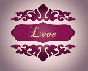 Love label amor etiquette