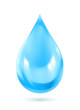 Blue water drop icon, vector