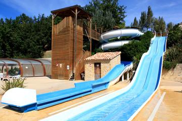 Slide and Swimming pool