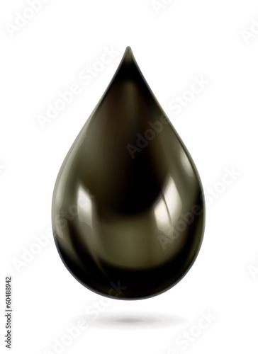 Black oil drop, vector icon