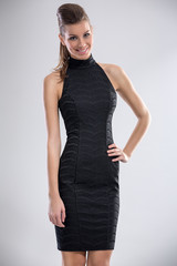 woman in cocktail dress