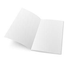 Booklet template on white background.