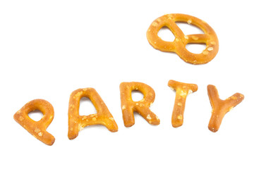 word party made in pretzels