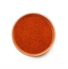 polvere di peperoncino rosso in ciotola
