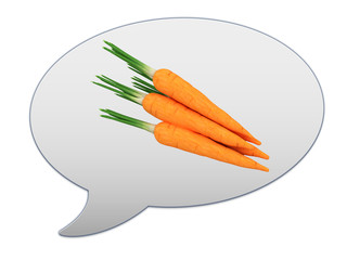 messenger window icon and carrot